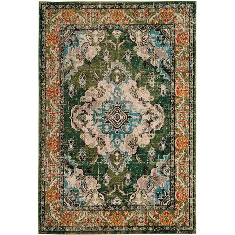 Forest Green Area Rugs Safavieh Monaco Forest Green Light Blue 5 Ft 1 In X 7 Ft 7 In Area Rug Mnc243f 5 The Home