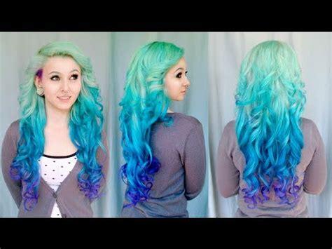 blonde ombre hair color tutorial youtube diy mermaid ombre haare tutorial von cira las vegas