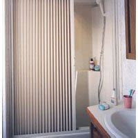 Irvine Shower Door Irvine 6057sw White Pleated Shower Door Rv Parts Zone Parts Accessories