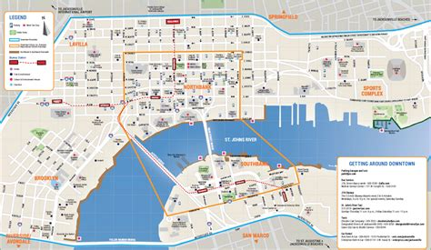 map of jacksonville downtown jacksonville map