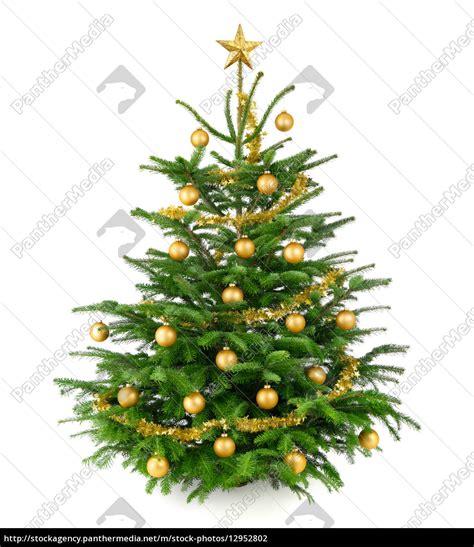 sch 246 ner gold geschm 252 ckter weihnachtsbaum stock photo