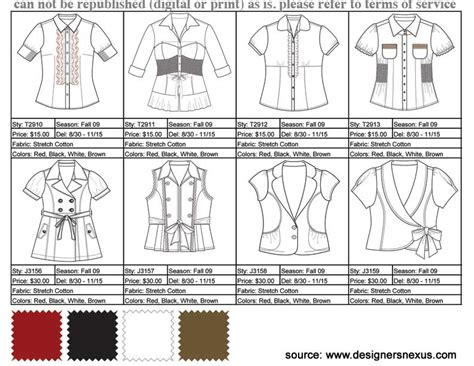 Fashion Line Sheet Template by Learning The Lingo Fashion Terms To