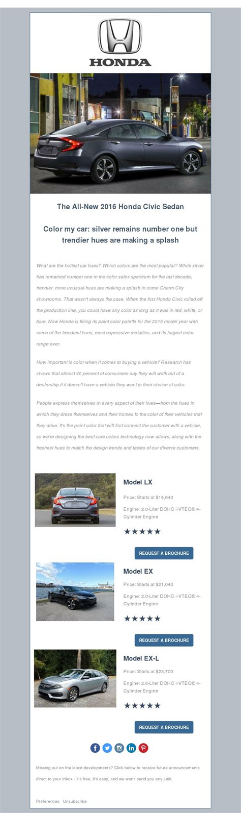 mock email template honda civic mock html email template devaughn narratives