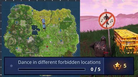 fortnite  forbidden dance locations dance  dif