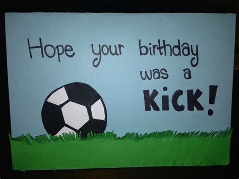 Birthday Card Template Soccer by Soccer Happy Birthday Card Sports Cards