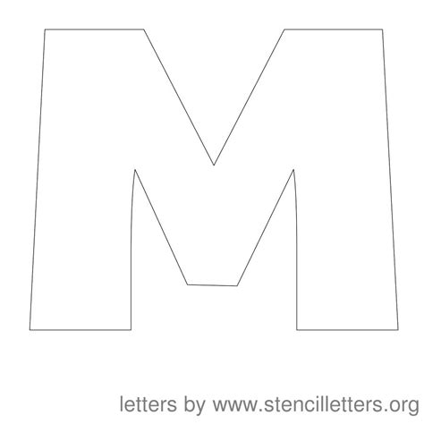 o m template 5 best images of printable capital letter m printable