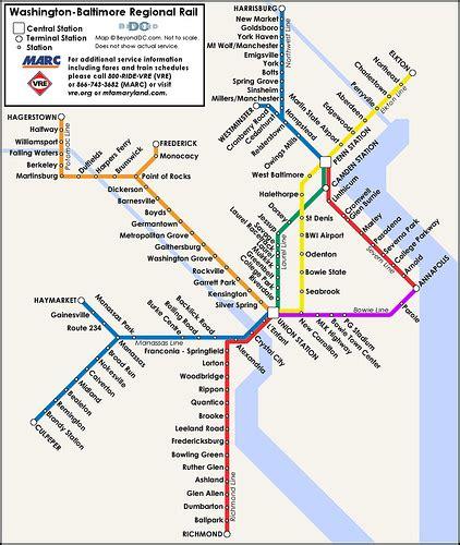 baltimore light rail map proposed map of a washington baltimore regional rail