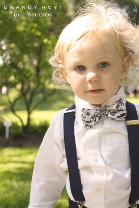 navy bow tie and suspenders blue floral suspenders