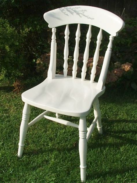 White Wooden Kitchen Chairs by White Painted Chair