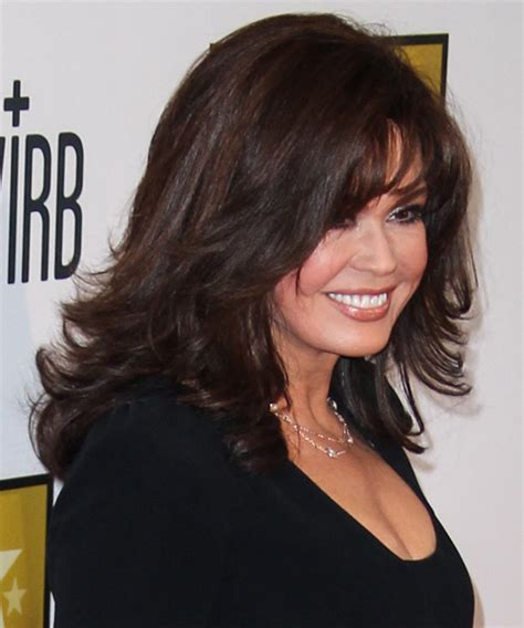 how is marie osmonds hair cut marie osmond medium straight formal hairstyle with layered