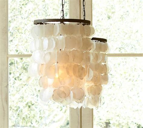Chandeliers Pottery Barn Capiz Chandelier Pottery Barn