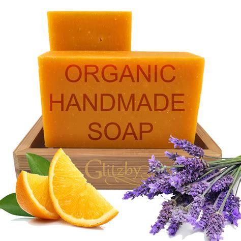 Organic Handmade Soap - organic handmade soap with bamboo soap dish citrus