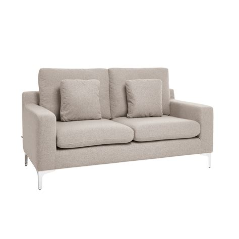 Grey Two Seater Sofa by Oslo Two Seater Sofa Light Grey Felt Dwell