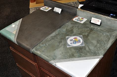 Resurface Laminate Countertops by New Concrete Countertop Resurfacing System Available For