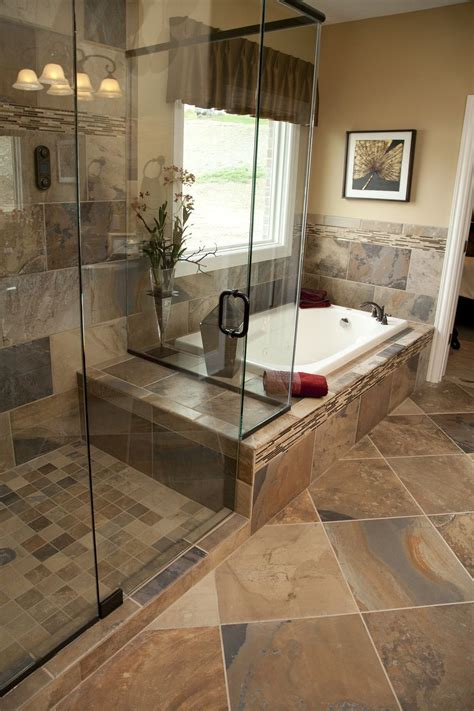 slate tile bathroom designs curious if this is a true slate or a porcelain tile made