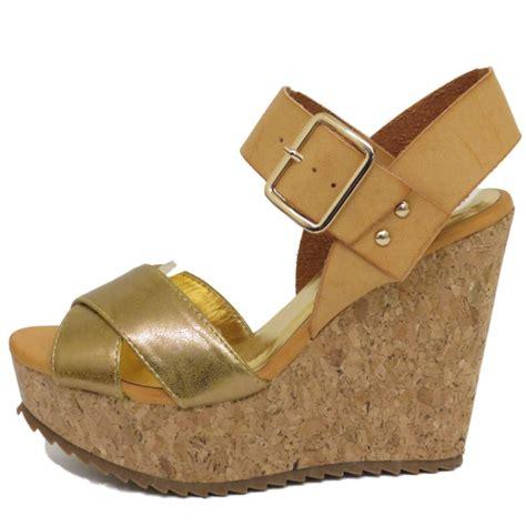 Platform Wedges Cs dolcis gold cork wedges platform sandals peep toe shoes sizes 3 8 buy