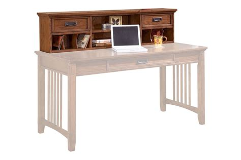 cross island desk hutch in brown by 174