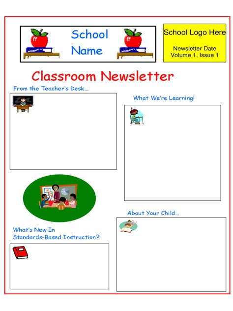 template for a newsletter