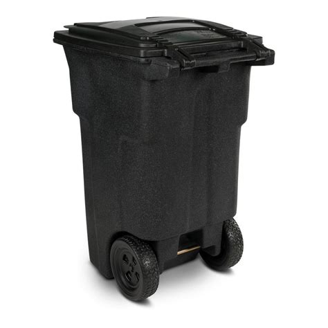 64 gallon trash can toter 64 gal wheeled blackstone trash can 25564 r1209 the home depot
