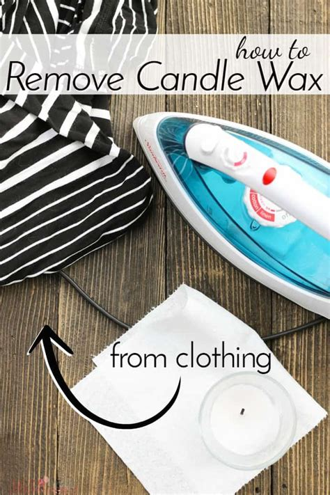 how to get candle wax out of clothes persil how to remove candle wax from clothing simple and seasonal