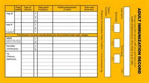 vaccination record template immunization record templates and sles