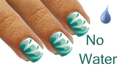 nail art tutorial using water quot no water quot marble nails tutorial youtube