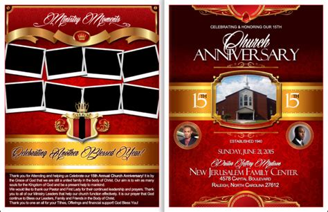 Powerful Church Anniversary Program Church Anniversary Church Program Covers Templates
