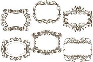 6 kind floral frame vector vector frames amp borders free