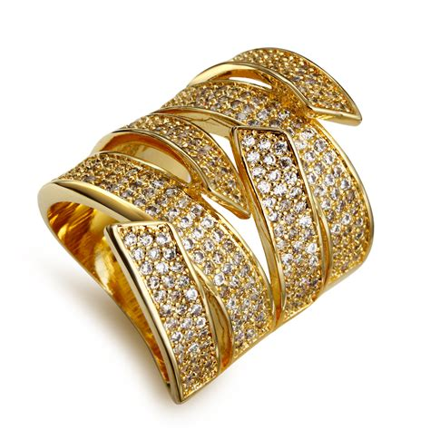 aliexpress buy copper ring gold plated cubic zircon