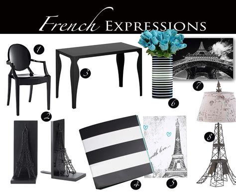 paris themed home decor french expressions parisian themed home office