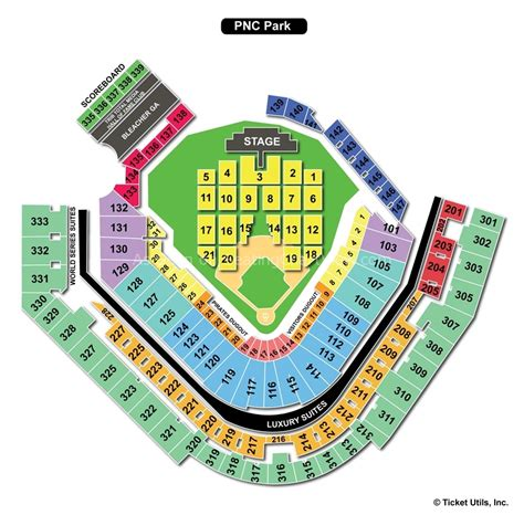 pnc seating chart pnc park pittsburgh pa seating chart view