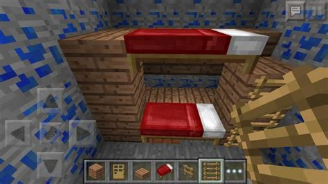 make a bed in minecraft minecraft bunk bed