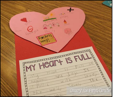 my first activity crazy for first grade valentine s day activities