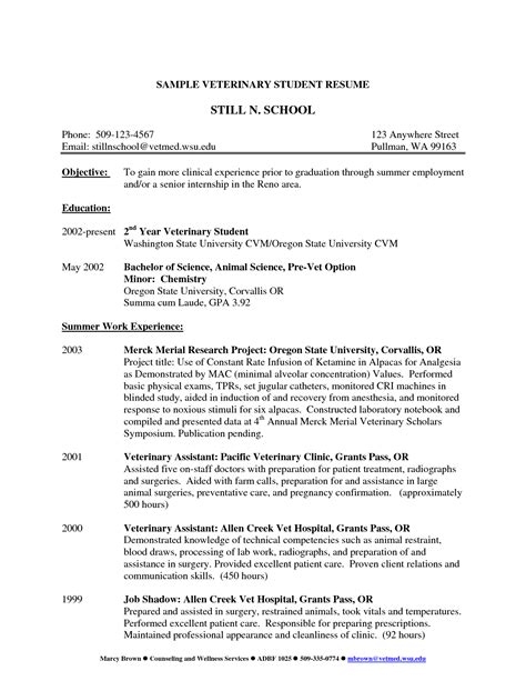 best photos of vet objectives for resumes veterinary
