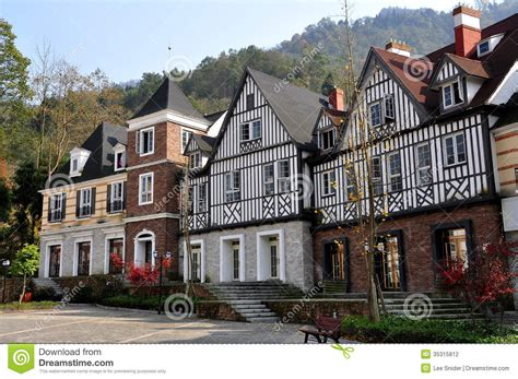 bai lu china normandie style half timbered manor houses