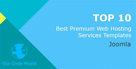 best premium templates top 10 best premium joomla web hosting services templates