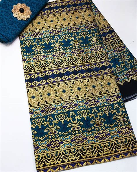Batik Bambu Sogan Enbos Tanpa Bros kain batik prada motif songket kombinasi embos p2 11