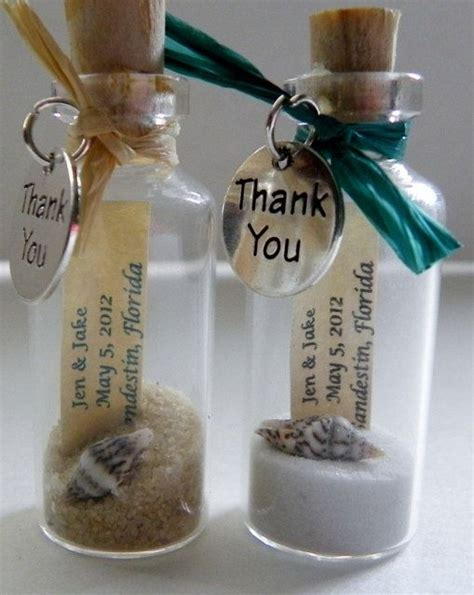 Wedding Giveaways - thank you mini message bottle favors with or without magnets sold in lots of 12 or