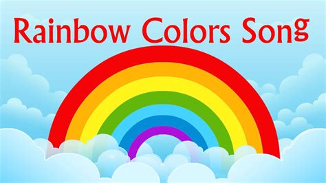 rhymes with color nursery rhyme rainbow colors song