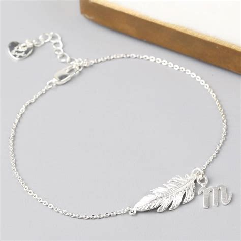 delicate feather bracelet by