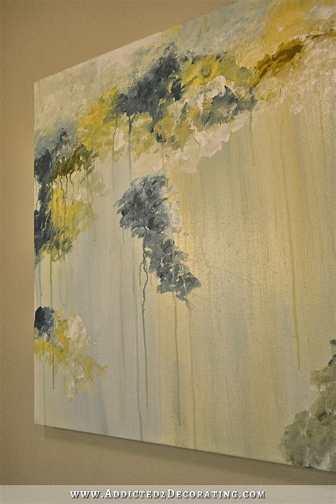 drips and drapes my diy abstract art and new shower curtain fabric