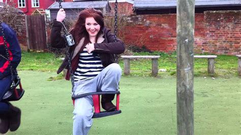 christina swing girl get s stuck in baby swing youtube
