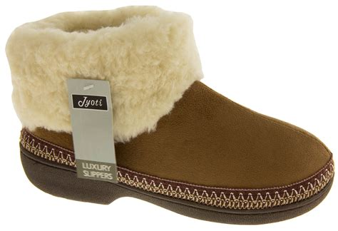 womans slipper boots new warm lined outdoor sole slipper boots slippers
