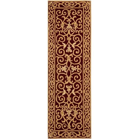 Safavieh Chelsea Burgundy 2 Ft 6 In X 6 Ft Rug Runner 6 Foot Rugs