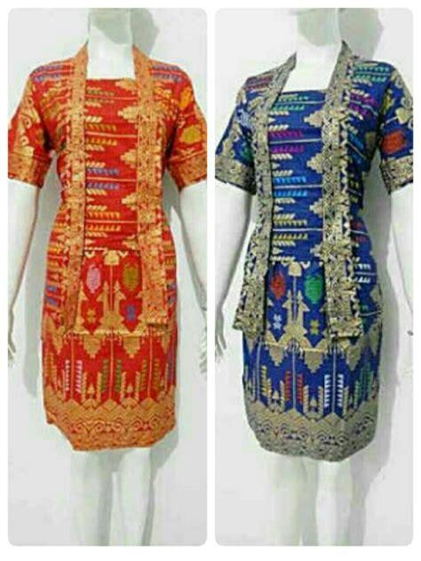 Koko Batik Prada Merah jual rok blus songket batik prada setelan kerja batik