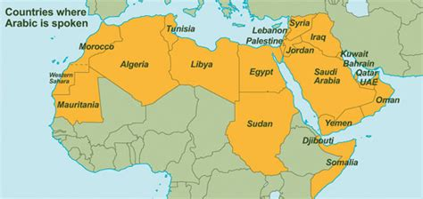 countries where is spoken history of the arabic language at unesco united nations