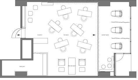 nail salon floor plan small salon design pictures studio design gallery