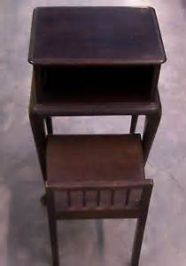 Antique Gossip Bench Phone Table Vintage Antique Telephone Table Gossip Bench Chair 40s 50