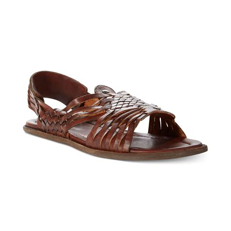 huarache sandals frye lawson huarache sandals in brown for brown