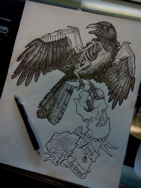zombie tattoo on the hand tattooimages biz black and white zombie hand keeping a huge raven on finger